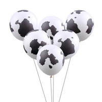 10pcs 12inch Cow Print Latex Balloons For Cowboy Cowgirl Western Party Decor+P