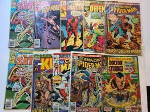 10 ASSORTED COMIC BOOK  LOT  MARVELS 60s 70s