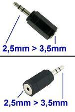 Audio Adapter Set 3,5mm + 2,5mm Klinke Stecker auf 2,5mm + 3,5mm Klinke Buchse