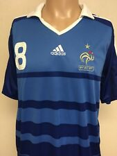 ADIDAS Clima 360 2010 World Cup France FFF GOURCUFF 8 STRIPED JERSEY Blue XL