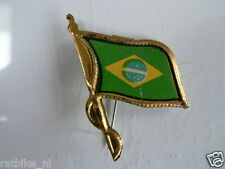 PINS,SPELDJES 50'S/60'S COUNTRY FLAGS 08 BRAZIL VINTAGE VERY OLD VLAG