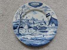 """DELFT HOLLAND METROPOLITAN MUSEUM OF ART MONTH OF THE YEAR December PLATE 9"""" MMA"""