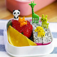 10Pcs Cute Animal Food Fruit Picks Forks Lunch Bento Box Accessory Decorations
