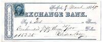 CIVIL WAR 1864 Colt Arms Co. Financier Elisha Colt Signed Connecticut Check