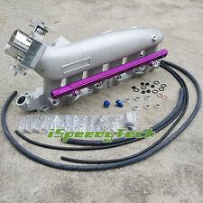 FOR Nissan RB25DET R32 R33 R34 Intake Manifold&Fuel Rail&80mm Throttle Body New