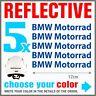5x BMW Motorrad Blue REFLECTIVE ADESIVI PEGATINA R1200 R1150 F800 F650 F700 GS