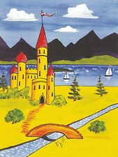 CS4 Self Adhesive Traditional Castles for Canal/Narrow Boat Decoration & Canalia