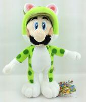 "Super Mario Bros Cat Luigi Plush Toy Stuffed Aniaml Figure Soft Green Doll 8"""