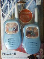 Disney Kids Toy Frozen 2 Walkie Talkies FR-V200 Easy Use NEW Girls Blue