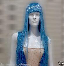 DaNeeNa M535W Cher Vegas Burlesque Bugle Beaded Hat Wig