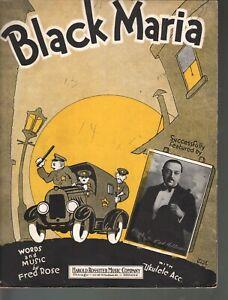 Black Maria 1927 Sheet Music