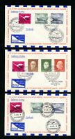 Germany Lot of 5 Air Mail Flight Covers With Good Stamps