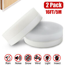 16FT Door Seal Strip Weather Stripping Adhesive Silicone Windows Bottom Stopper