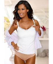Petite Fleur Still-Bh-Hemd Nursing Bra Shirt Top Cream Lace Cup B