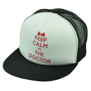 Keep Calm Im The Doctor Mesh Snapback Flat Bill Dr Who Tv Show Bbc Television