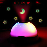 Digital Magic Starry LED Projection-Alarm Clock Night Light Color Changing Lamps