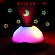 LED Projektionswecker Uhr Projektion Sternenhimmel Alarm KinderNachtlicht Lampe,