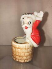 Vtg 40-50's Japan Santa Chimney Toothpick Q-Tip Christmas Decor Holder Figurine