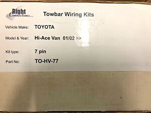 Right Connections 7 pin towbar wiring harness to fit Toyota Hi-Ace Van 01/02 >