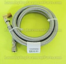"""3/8"""" COMPx3/8"""" COMPx48"""" W/ELBOW STAINLESS STEEL DISHWASHER HOSE PART# 1404DWSS"""