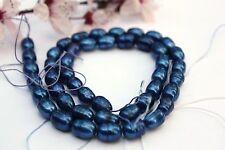 ov181 perles de culture chapelet Eau Douce Bijoux chaîne collier 5-6 mm ovale