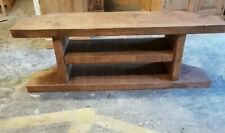 NEW SOLID WOOD RUSTIC CHUNKY PLANK CORNER TV STAND, ENTERTAINMENT UNIT- STAND