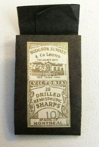 Antique HODGSON SUMNER & CO Victoria Sewing Needle Sharps Montreal 1879-1933