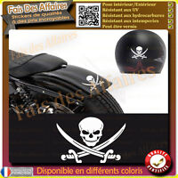 lot 2 stickers autocollant crane pirate skull tete de mort casque  moto punisher