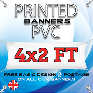 4 X 2 FT PVC BANNERS - OUTDOOR SIGN - ADVERTISING VINYL BANNER - BIRTHDAY PARTY