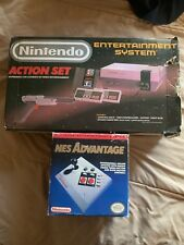 Nintendo NES ACTION Set Boxed + Advantage- SYSTEM Bundle Console Lot + New Pin