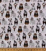 C3639 Dogs Glasses Hats Monocles Mustaches 100% cotton fabric by the yard