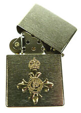 OBE ORDER OF THE BRITISH EMPIRE WINDPROOF CHROME PLATED LIGHTER