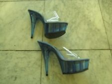 "Pre-owned BLUE 6"" spike heels size 8 stripper shoes FREE SHIPPING very sexy"