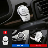 2pcs Chrome Engine Start Stop Push Switch Button Cover For BMW 5 Series F10 F07
