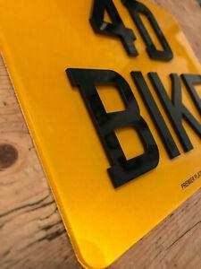 "4D  Motorcycle Motorbike Quad bike Motor Bike Number Plate 9x7"" Road Legal"