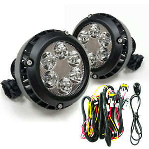 Fit 2015-2018 GMC Canyon Replacement LED Fog Lights w/Wiring Kit