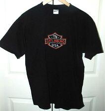 Gatlinberg, TN. U.S.A. Embroided Harley Davidson Bar & Shield T-Shirt Lg. Cotton