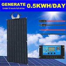 100W ETFE Flexible Solar Panel With 20A Solar Controller for Camping/RV/Caravan