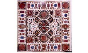 Traditional Marble Side Custom Dining Room Table Unique Inlaid Work Arts  H5653