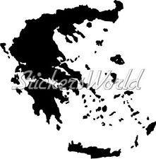 GRIECHENLAND Kartenform GRIECHISCHE Silhouette Sticker Aufkleber JEDE FARBE