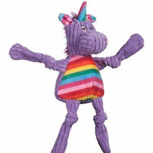 Hugglehounds RAINBOW UNICORN KNOTTIE Squeaker Dog Toy SMALL