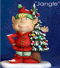 "Ceramic Bisque Ready to Paint Jangle the Elf  10.25"" Tall clipin light included"