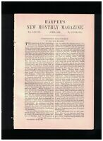 1889 Washington's Inauguration by John Bach McMaster - Illustrated Article