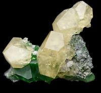 116.6g Rare Transparent Green Fluorite & Calcite Crystal Mineral Specimen/China