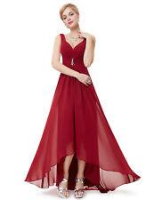 EP High Low Elegant Wedding Evening Party Maxi Dress 09983 Size 4 Burgundy 16