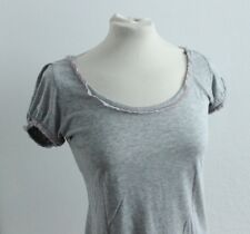 Juicy Couture Gr.S/P/36 grau T-Shirt Viscose Rüschen Sommer Top