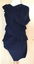 All Saints Ladies Dress 8 Ema Ruffle Party Going Out Clubbing Unusual Statement