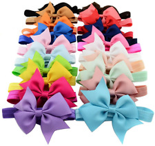 Qandsweet Baby Girls Headbands and Forked Tail Bow Photography
