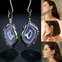 Fashion Dangle Drop Earrings Hook Moonstone Women Fashion Gift Jewelry Z1Q0