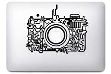 Sticker pour MacBook Pro Air - Appareil Photo - Noir ou Blanc
